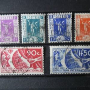 FRANCE-SERIE-DE-TIMBRE-OBLITERE-ANNEE-1936-COTE-1700-0