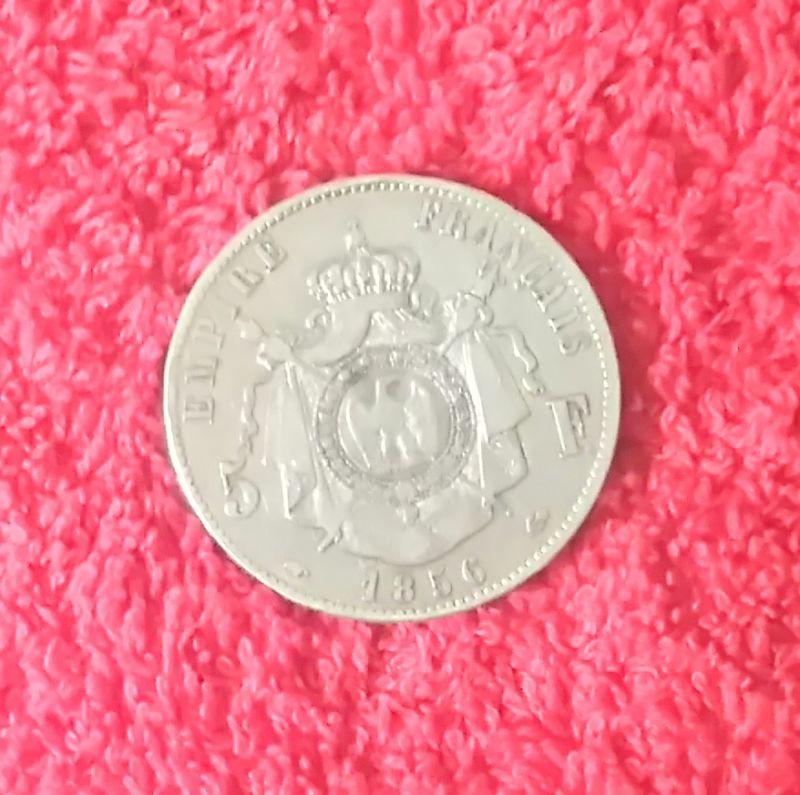 piece argent 5 francs napol on iii 1856 a sup. Black Bedroom Furniture Sets. Home Design Ideas
